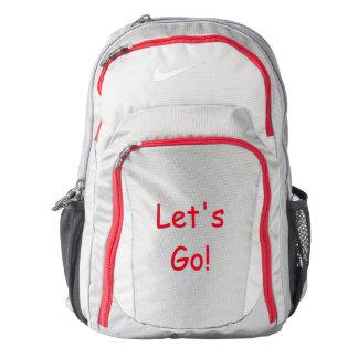 """Custom Nike Performance backpack """"Let's Go!"""""""