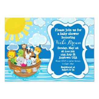 Custom Noah's Ark Baby Shower Invitation