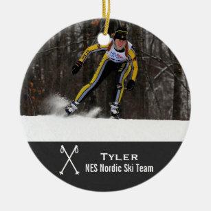 Cross Country Skiing Christmas Ornaments Zazzle 100 Satisfaction Guaranteed