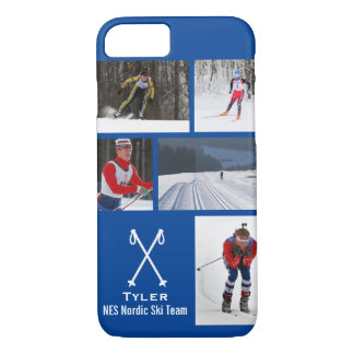 Custom Nordic Cross Country Skiing Photo Collage iPhone 8/7 Case