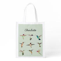 Custom North American Hummingbirds Grocery Bag