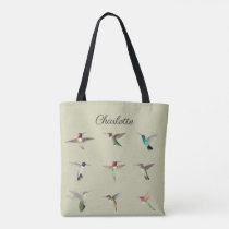 Custom North American Hummingbirds Tote Bag
