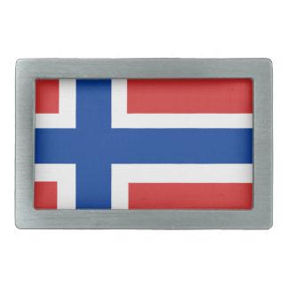 Custom Norwegian Flag (Norske Flagg) Belt Buckle