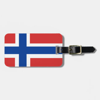 Custom Norwegian Flag (Norske Flagg) Travel Bag Tag