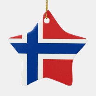 Custom Norwegian Flag (Norske Flagg) Ornament