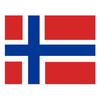 Custom Norwegian Flag (Norske Flagg) Postcard
