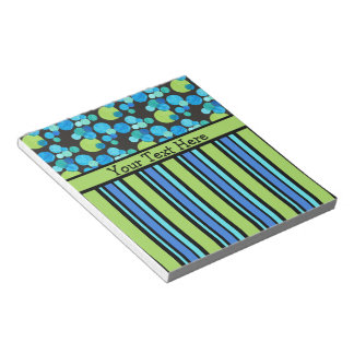 Custom Notepad or Jotter Blue Moons and Stripes