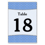[ Thumbnail: Custom Number; Blue Dots/Circles Pattern Table Number ]
