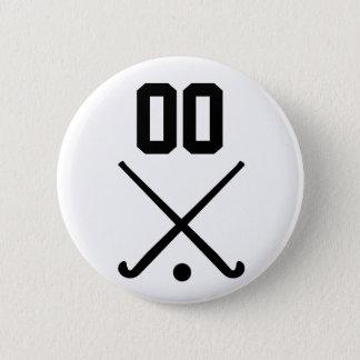 Custom Number Team Field Hockey Button