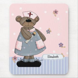 Custom Nurse s Name Teddy Bear Design Mousepad