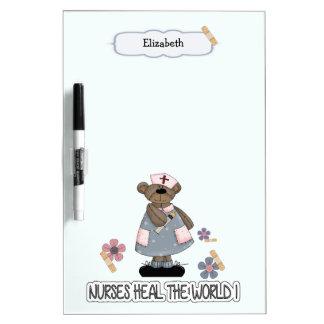 Custom Nurse's Name Gift Dry Erase Board