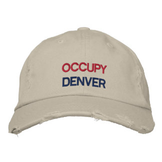 Custom Occupy Your Town OWS Cap Embroidered Baseball Cap