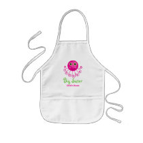 Custom Octopus Big Sister Child's Name Kids' Apron
