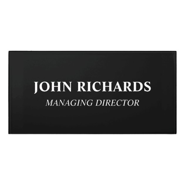 custom office door name plates acrylic wall sign