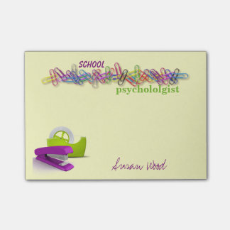 Custom Office-Themed School psychologist Notes Post-it® Notes