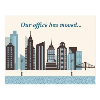 Custom Offices Have Moved Modern City Skyline Postcard