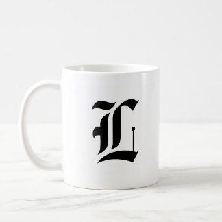Custom Old English Font Letter (e.g. L for Letter) Coffee Mug