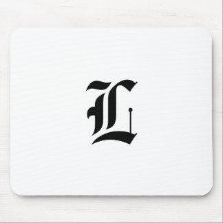 Custom Old English Font Letter (e.g. L for Letter) Mouse Pad