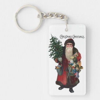 Custom Old Fashioned Santa Claus Gift Keychain