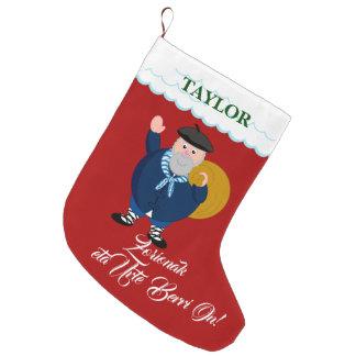 "Custom, Olentzero   ""Zorionak eta Urte Berri On"", Large Christmas Stocking"