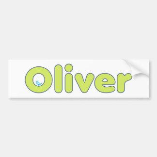Custom Oliver Baby Bottle Bumper Sticker