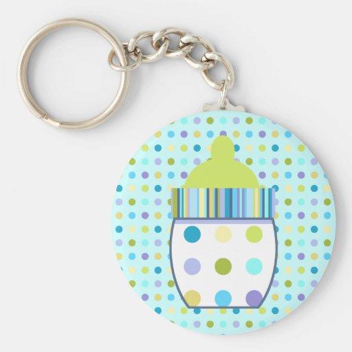 Custom Oliver Baby Bottle Basic Round Button Keychain