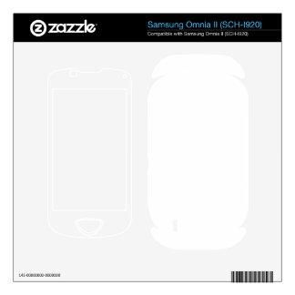 Custom Omnia 2 Skin Samsung Omnia II Decal