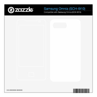 Custom Omnia Skin Samsung Omnia Skin