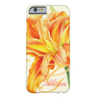 Custom orange daylily floral iphone 5 case