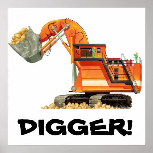 Custom Orange Digger Poster