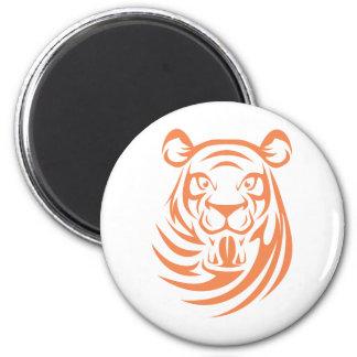 Custom Orange Tiger Logo 2 Inch Round Magnet