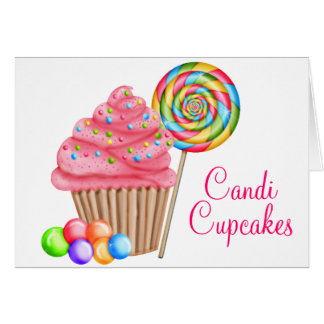 Custom Order For Candace- Candi Cupcakes Card
