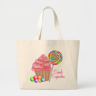 Custom Order For Candace- Candi Cupcakes Large Tote Bag