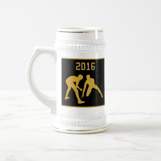 Custom Order Gifts for Wrestling Coaches Beer Stein