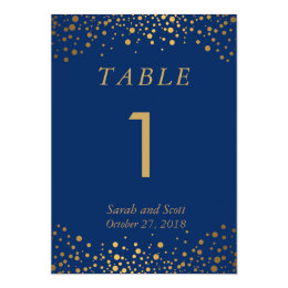 Custom Order - Navy Blue Table Number