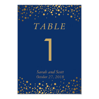 Custom Order - Navy Blue Table Number