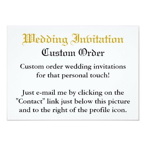 Custom Order - Wedding Invitation