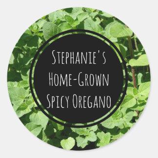 Custom Oregano Spice Herb Bottle Jar Garden Label