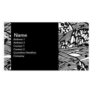 Custom Oriental Black and White Lined Pattern Business Card