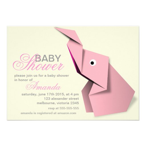 White Elephant Invitations with adorable invitation example