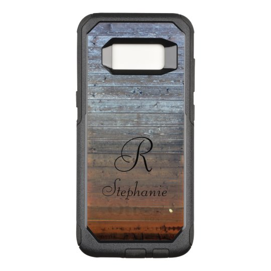 buy online 60c48 ce62c Custom OtterBox. Monogram wood. OtterBox Commuter Samsung Galaxy S8 Case