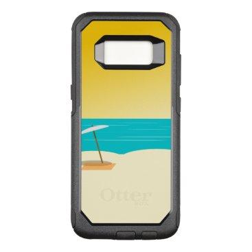 Beach Themed Custom OtterBox Samsung Galaxy S8 Commuter Series
