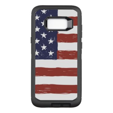 USA Themed Custom OtterBox Samsung Galaxy S8  Defender Series