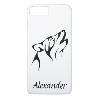 Custom Outline of a Wolf Howling iPhone 8 Plus/7 Plus Case