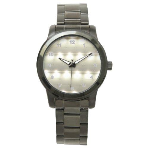 Custom Oversized Black Bracelet men's watch