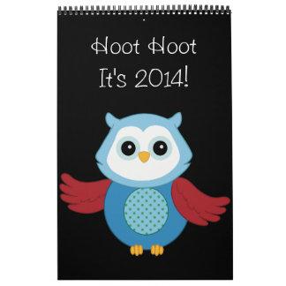 Custom Owl 2014 Calendar
