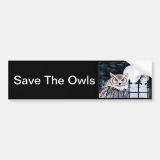Custom Owl Bumper Sticker Car Bumper Sticker