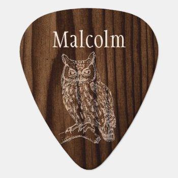 Custom Owl Guitar Pick by DizzyDebbie at Zazzle