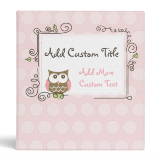 Custom Owl Photo Album Binder