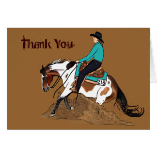 Custom Paint Reining Horse Card